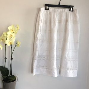 Gap, White eyelet skirt